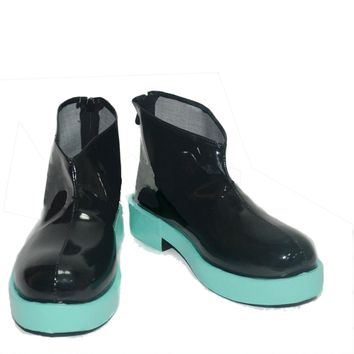 Hatsune Miku Shoes Black PU Fashion Vocaloid Cosplay Costume Boots for Girls Sale