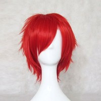 Dream2reality Cosplay_Vocaloid Family_Another Akaito & Pepper Hitachiin brothers_bottom curl_35cm_red_kanekalon wig
