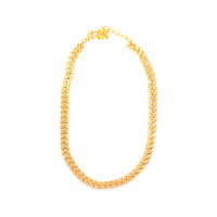 Gold Fishbone Choker Necklace