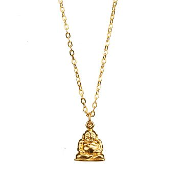Mini Buddha Gold Charm Necklace