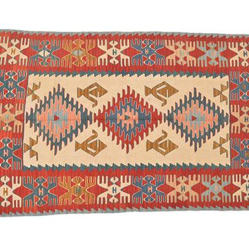 "Turkish Kilim Turkish 3' 8"" X 5' 8"" Handmade Rug"