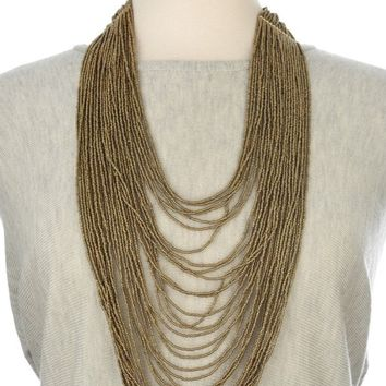Ink+Alloy Multi-Strand Long Necklace