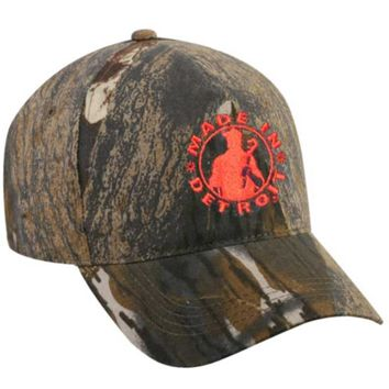 Made in Detroit Mossy Oak Break Up Hat w/ Orange