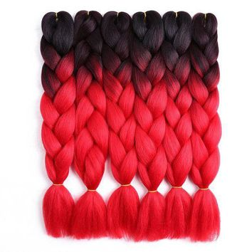 CREY78W 24inch Crochet Braids Ombre Jumbo Braid Colored Hair Extensions Synthetic Heat Resistant Bulk Hair for Braiding Golden Beauty
