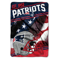 New England Patriots NFL Stagger Oversized Micro Raschel (62in x 90in)