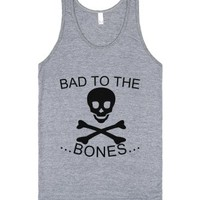 To The Bones-Unisex Athletic Grey Tank