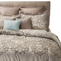 Wesley 8 Piece Bedding Set - Taupe