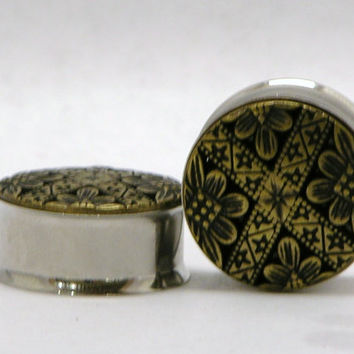 Damask Style Plugs 7/8 Inch  22mm