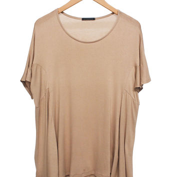 Beige Draped Blouse