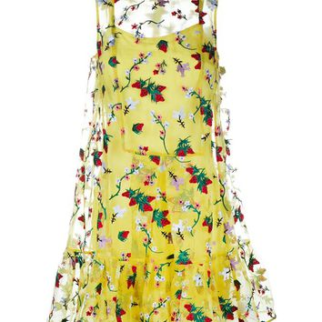 Strawberry Embroidered Sleeveless Tasha Dress - ERDEM