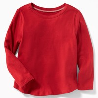 Jersey Scoop-Neck Tee for Toddler Girls old-navy