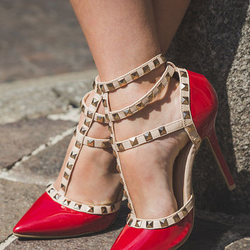 Delores Pumps - Red