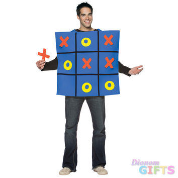 Men's Costume: Tic Tac Toe Board-One Size