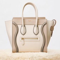 Micro Luggage Handbag in Multicolour Shiny Calfskin