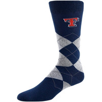 Texas Rangers Argyle Tall Socks - Navy Blue/Gray