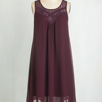 Long Sleeveless Tent Endless Entertainment Dress in Plum by ModCloth