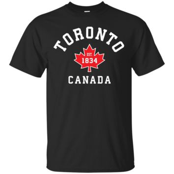 Toronto Canada T-Shirt Hoodie Canadian Flag Maple Leaf Gift Tees Eh