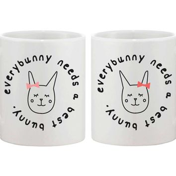 Cute Bff Coffee Mugs For Best Friends   Every Bunny Needs A Best Bunny Cup