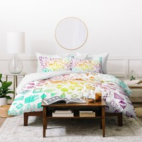 Iveta Abolina Colorful Crystals Duvet Cover