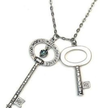 Blessing Keys Necklace - Jeremiah 29:11