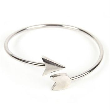 Silver Bow And Arrow Bracelet