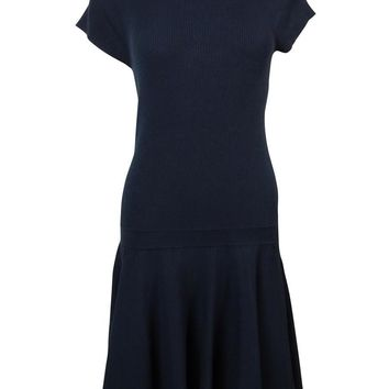 Polo Ralph Lauren Women's Mock-Turtleneck Dropped-Waist Knit Dress