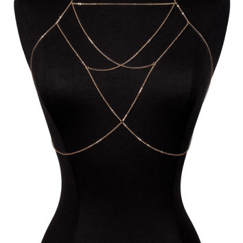 Higher Self Bra Body Chain Harness