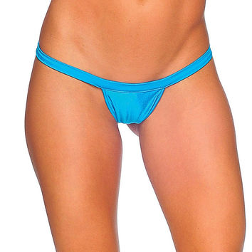 Pole Dancers Turquoise T Back Thong