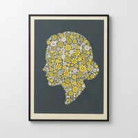 Flowering Confetti Hers Silhouette Framed Art