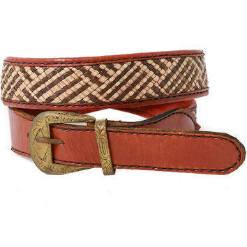 Braided Straw Belt - Vintage