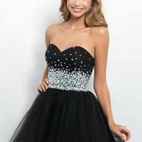 short black organza homecoming dresses with swarovski crystals   cute sweetheart dress for prom  cheap unique homecoming cocktail gowns