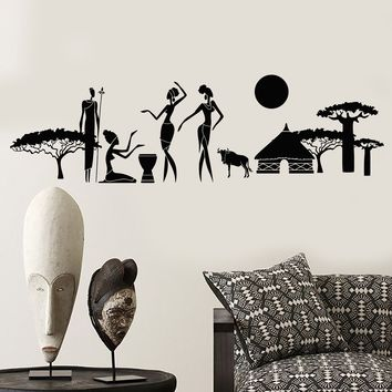 Vinyl Wall Decal Abstract Natives African Tribe Ethnic Style Stickers (2380ig)