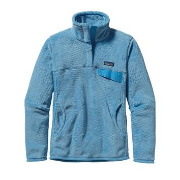 Patagonia Women's Re-Tool Snap-T® Fleece Pullover | Peach Sherbet - Monarch Orange X-Dye