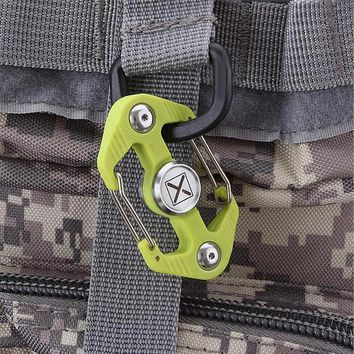 Outdoor multi-function climbing accessories, carabiner, tactical hang buckle, keychain, adult decompression finger gyro play