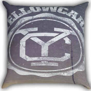 Yellowcard YC Logo A0003 Zippered Pillows  Covers 16x16, 18x18, 20x20 Inches