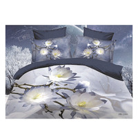 3D Queen King Size Bed Quilt/Duvet Sheet Cover Cotton reactive printing 4pcs 1.5M bed 29