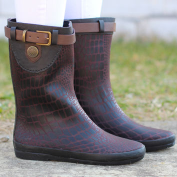 Wind Rain Boots {Brown}