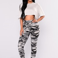 Camo Basic Legging - Grey