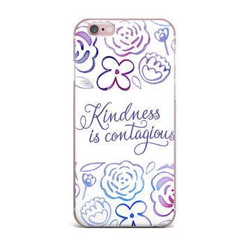 """Noonday Design """"Kindness Is Contagious"""" Purple Magenta iPhone Case"""