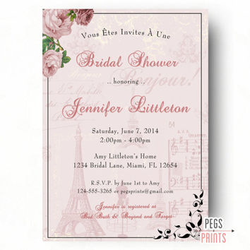 Shop paris bridal shower on wanelo paris theme bridal shower invitation parisian bridal shower invitations printable paris bridal shower filmwisefo