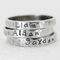 Personalized Stack Ring