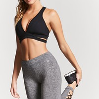 Active Strappy Heathered Leggings
