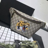 Gucci Women Fashion Tiger Leather Waist bag Shoulder Bag Crossbody G