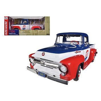1956 Ford Pick-up Truck F-100 Pepsi Cola to 1250 pc Worldwide 1:18 Diecast