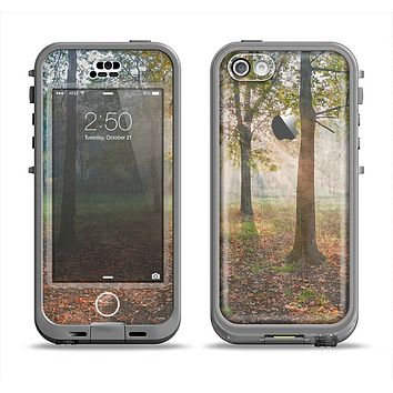 The Vivia Colored Sunny Forrest Apple iPhone 5c LifeProof Nuud Case Skin Set