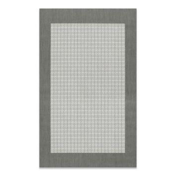 Couristan® Checkered Field Rug in Grey/White