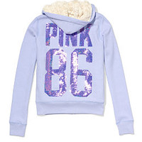 Faux-fur Signature Zip Hoodie - PINK - Victoria's Secret