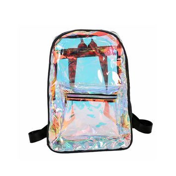 Transparent Large Opening Student Backpack