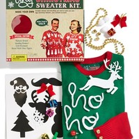 Junior Women's Ugly Christmas Sweater Colorblock Make-Your-Own Sweater Kit
