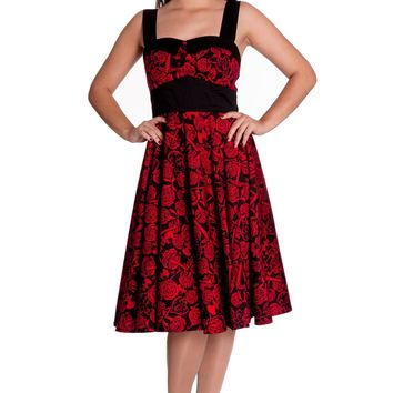 844e6fcbf860 Hell Bunny Rockabilly Wedding Death Do Us Part Red Party Dress